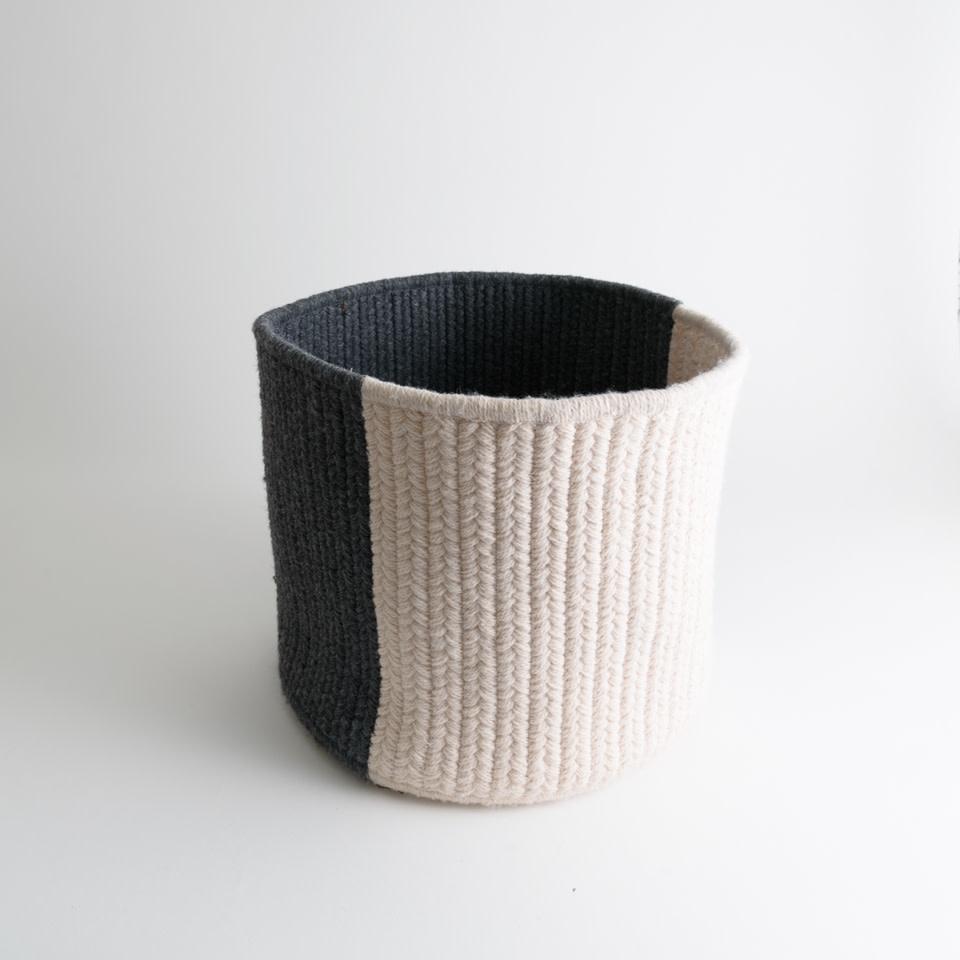 Thayer Slate Balance Wool Basket