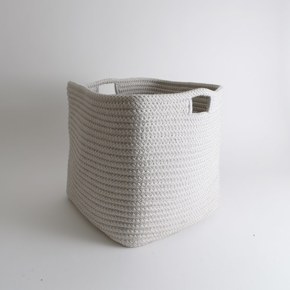 Indoor/Outdoor Square Basket {Nickel}