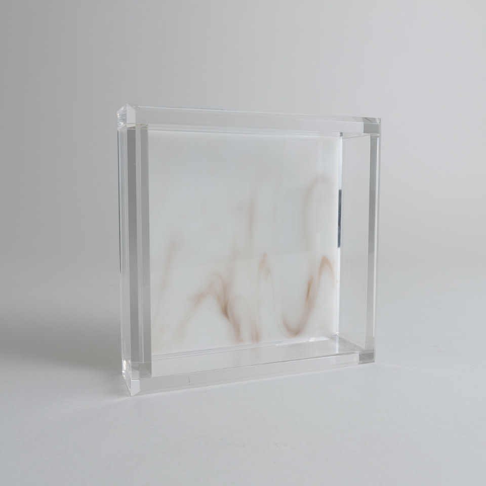 Acrylic Cocktail Napkin Tray {Whitestone Marble}