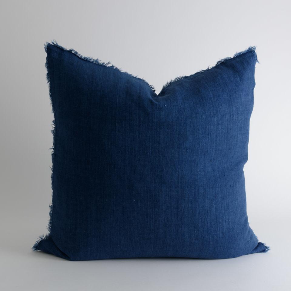 """Lina Linen 24"""" Cobalt Pillow"""