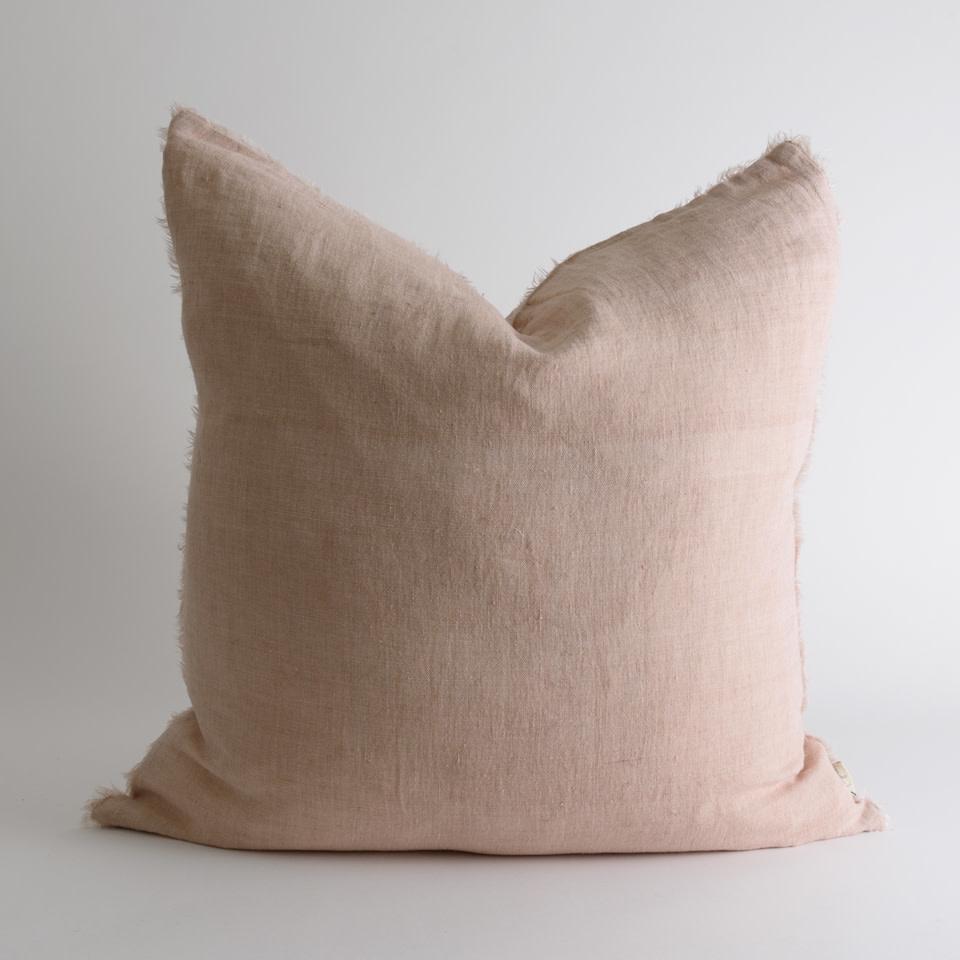 """Lina Linen 24"""" Dusty Rose Pillow"""