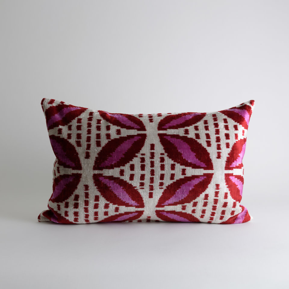 Delilah Ikat+Silk Lumbar Pillow Cover