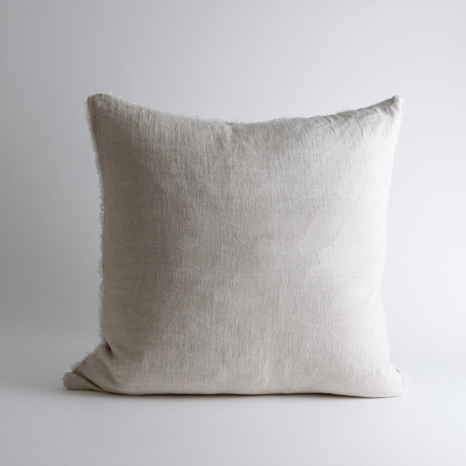 "Lina Linen 24"" Chambray Pillow"