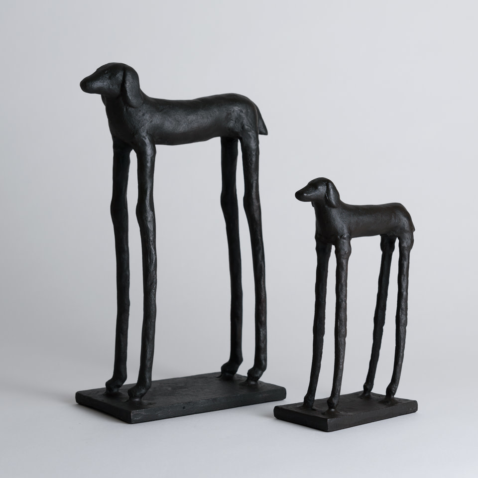 Set of 2 Hound Sculptures
