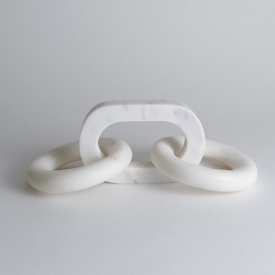 White Marble Round Chain