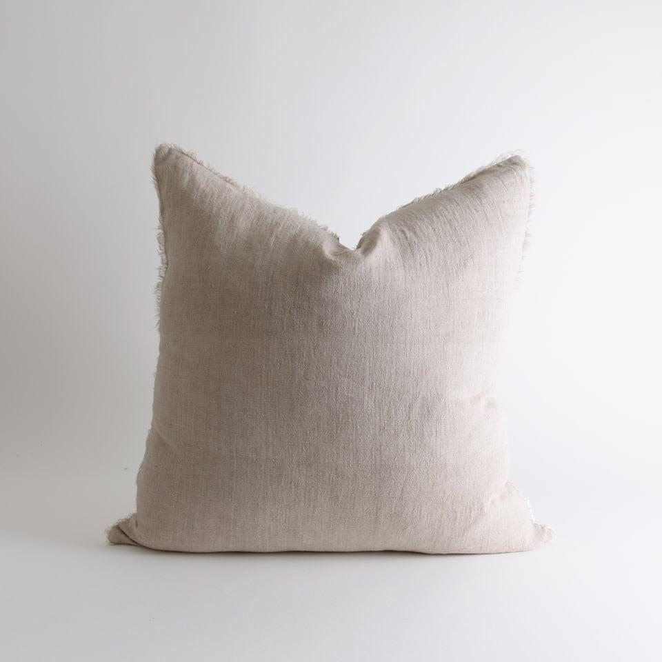 """Lina Linen 24"""" Oat Pillow"""