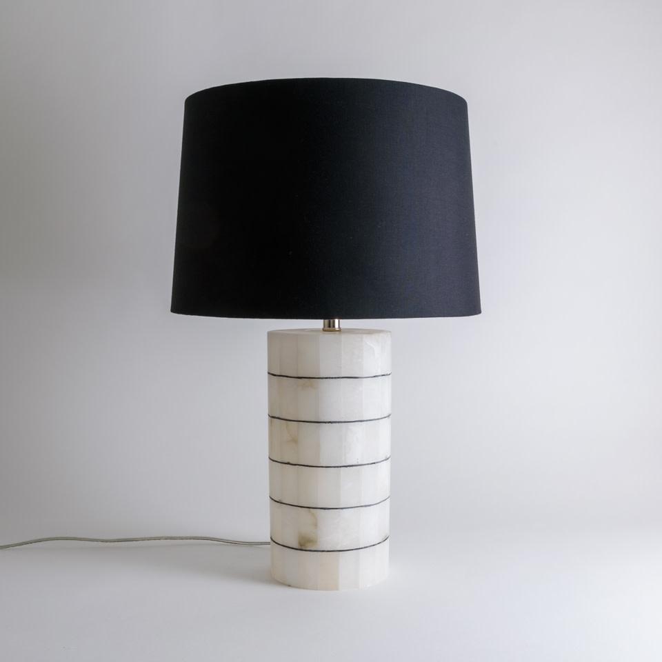 Alabaster Stripe Lamp