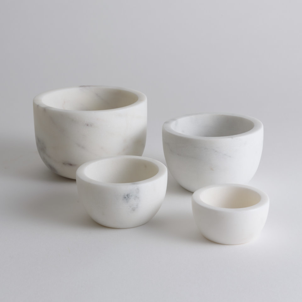 White Marble Bowls Set of 4