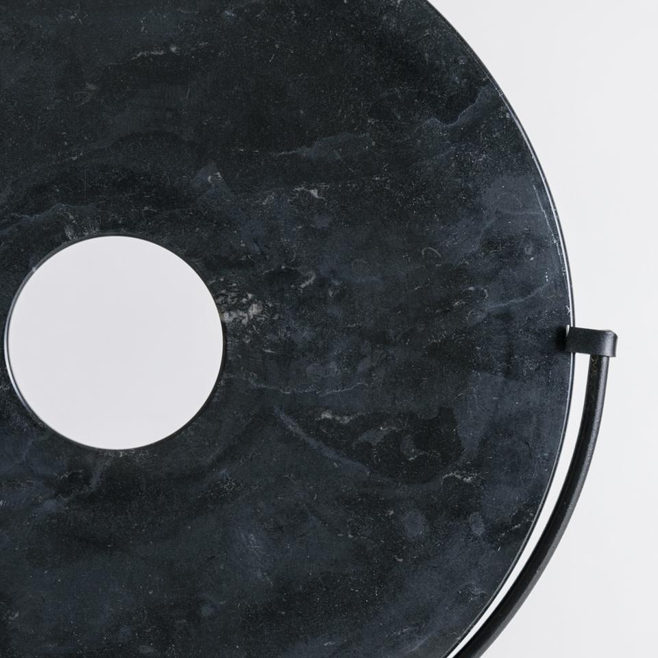 Black Disk on Stand Medium