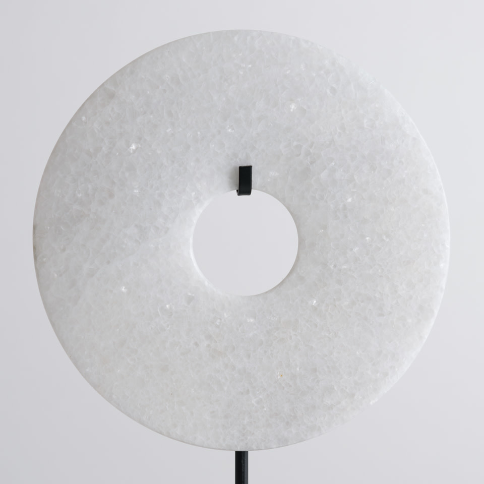 White Disk on Stand Small