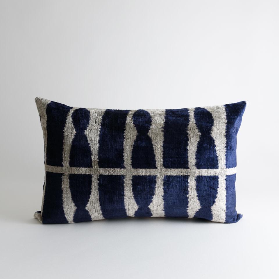 Zuri Silk + Velvet Lumbar Pillow Cover