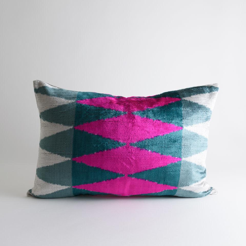 Phillips Silk + Velvet Lumbar Pillow Cover