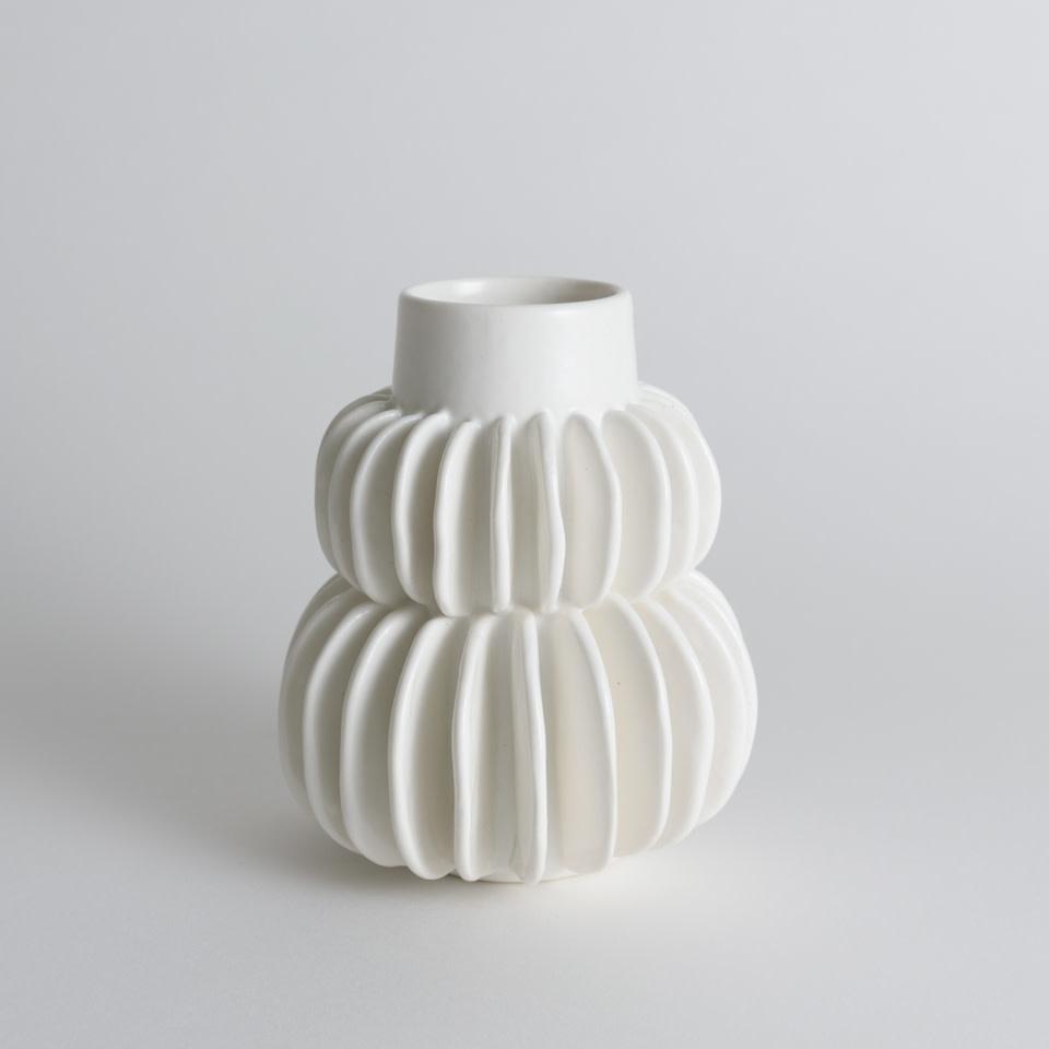 Round Pleated Vase