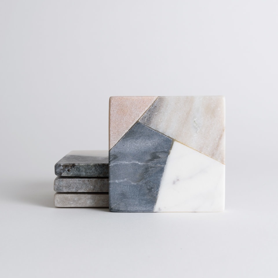 Multi Color Marble Coasters
