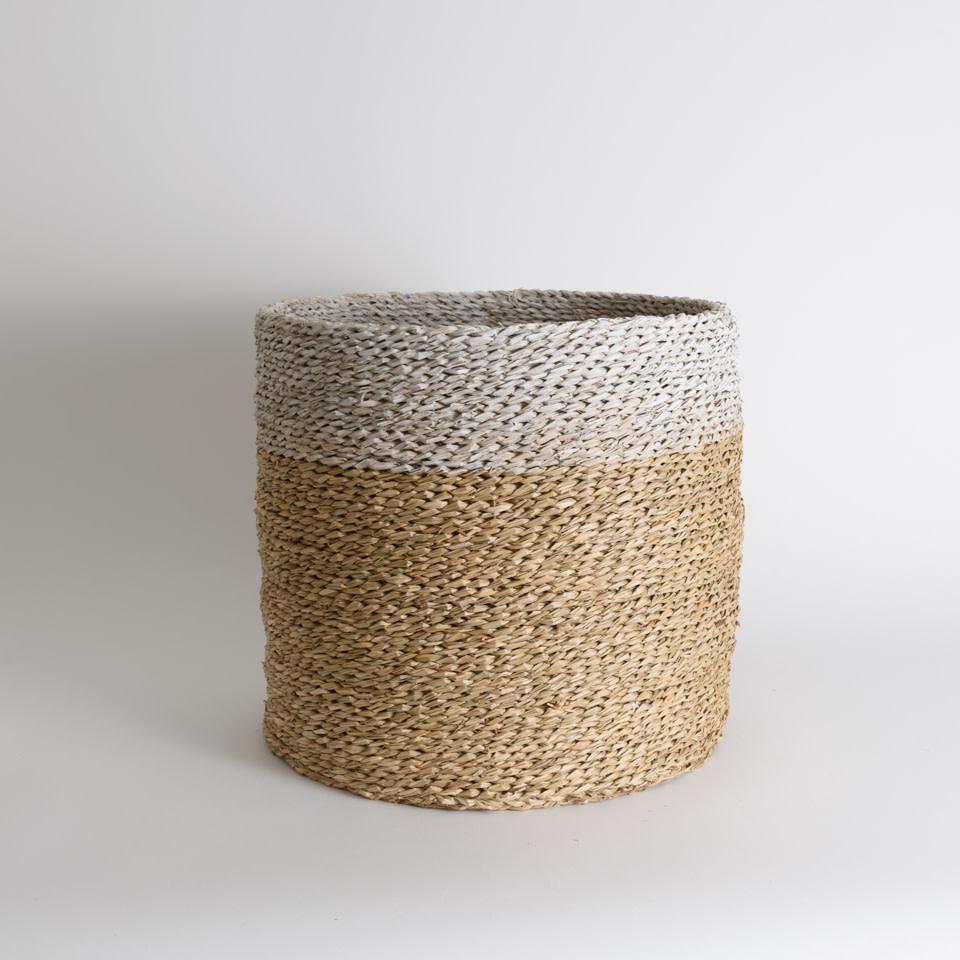 White Rim Seagrass Baskets