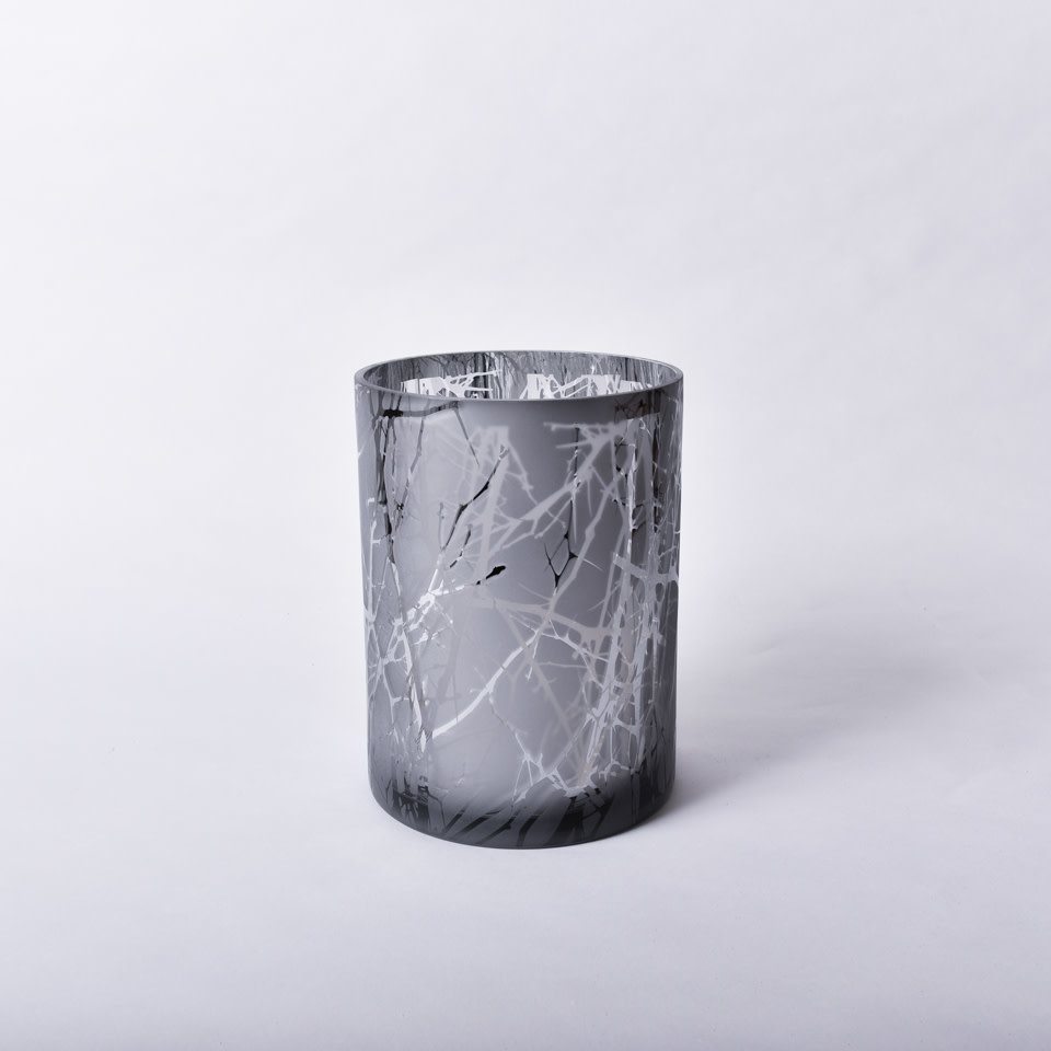 Silver Plated Branch LED Glass