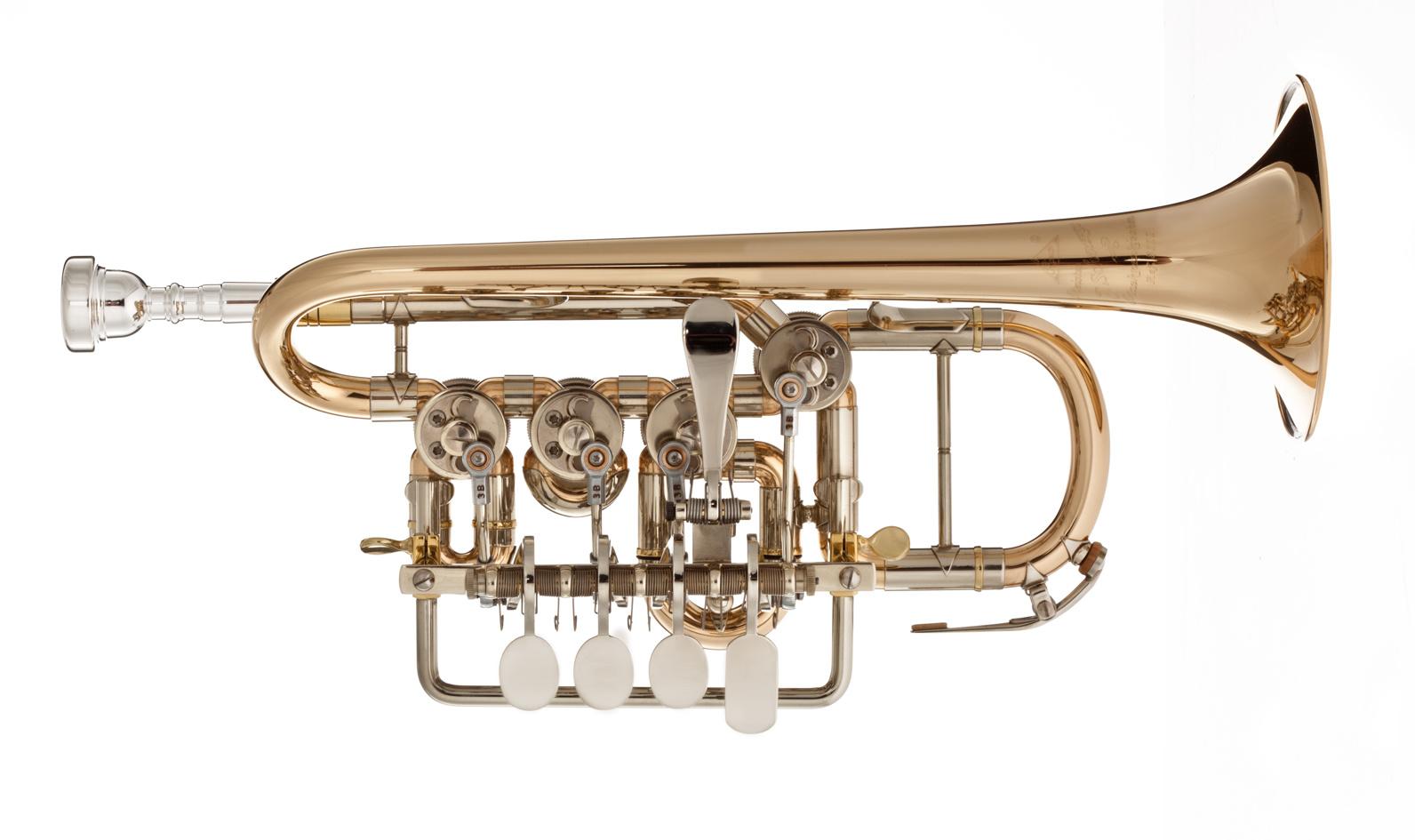 Scherzer Scherzer 8111G-1-0 Bb/A Rotary Piccolo Trumpet