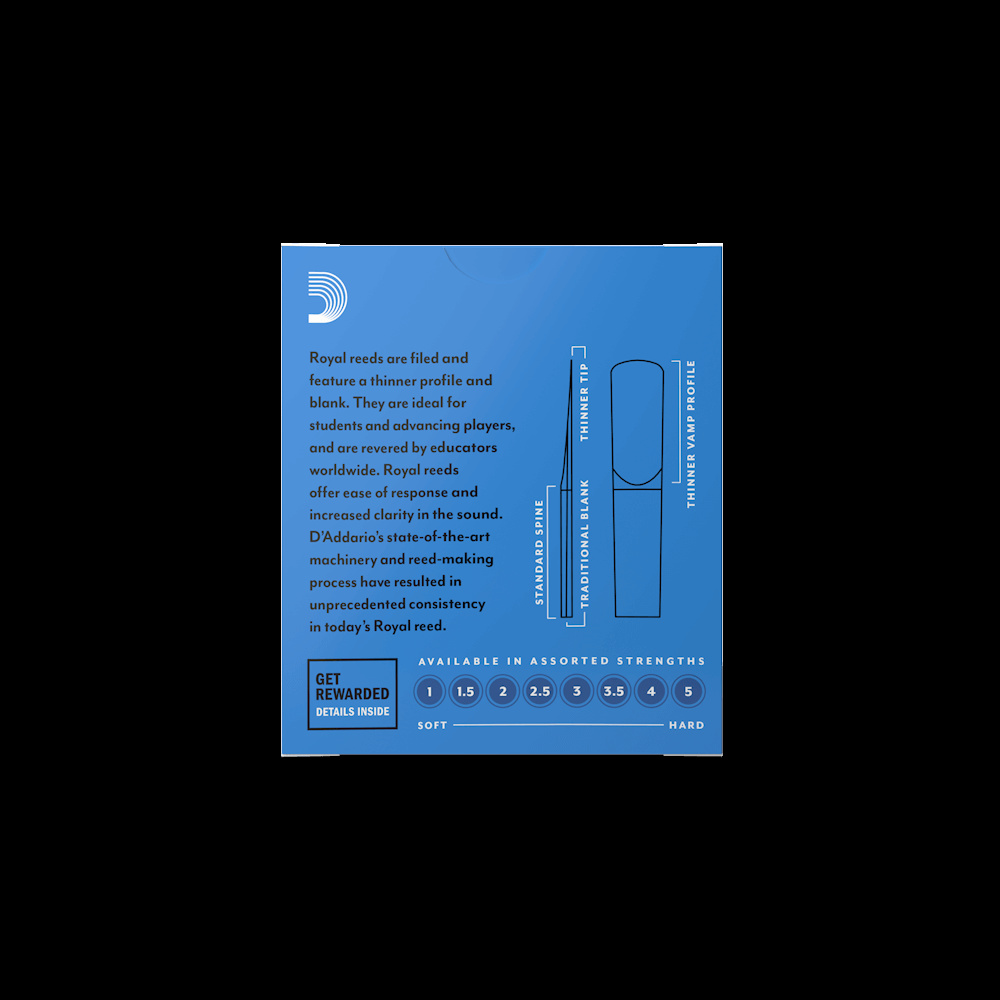 Rico Rico Royal Bb Clarinet Reeds (box of 10)