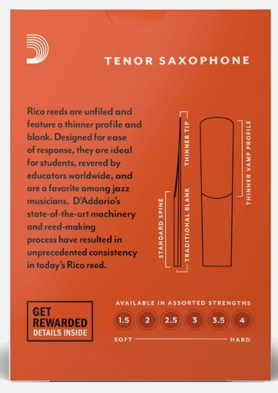 Rico Rico Tenor Sax Reeds (box of 10)