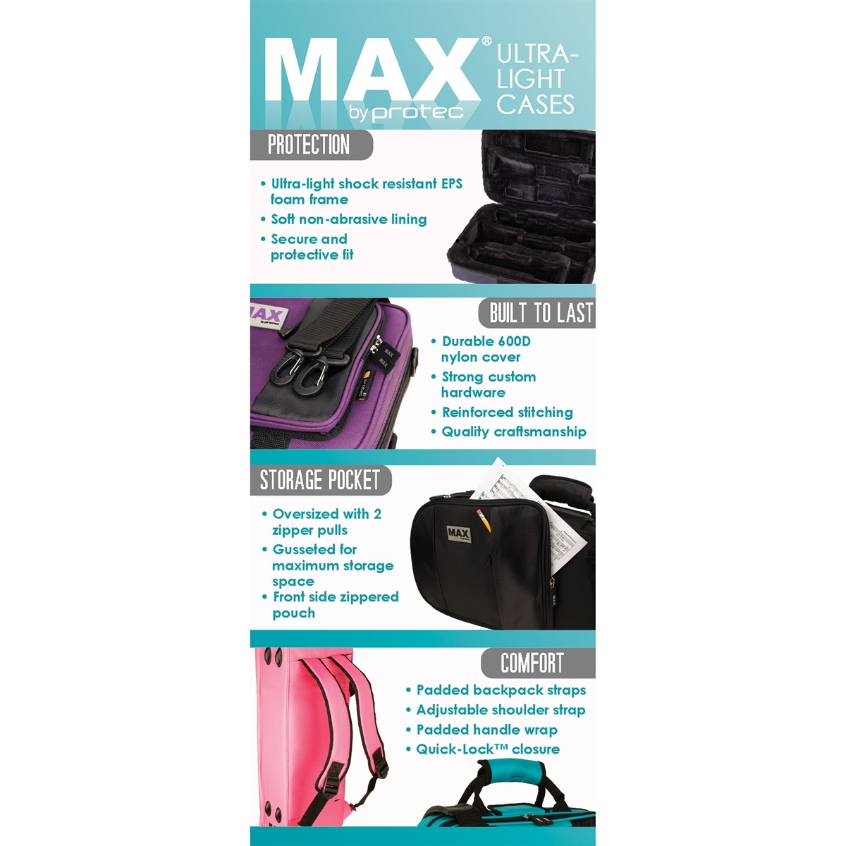 Protec Protec MAX Contoured Tenor Sax Case
