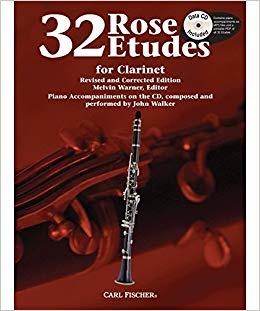 Carl Fischer 32 Rose Etudes for Clarinet Book w/ CD