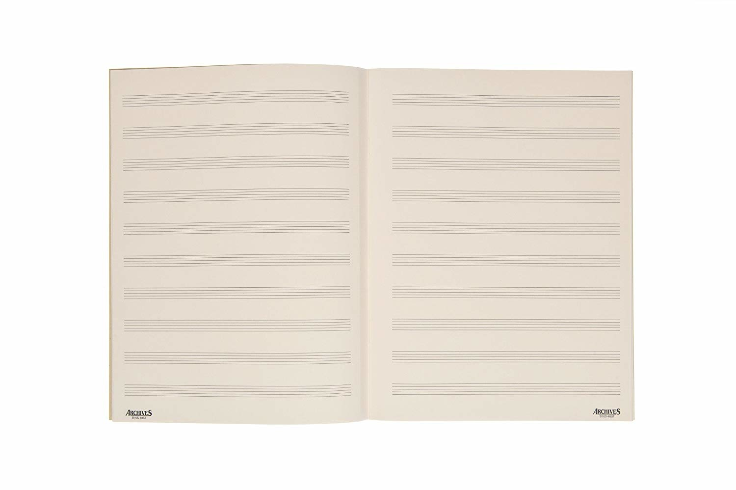 """D'Addario Archives Manuscript Paper: 12 Stave Full Size (8.5"""" x 12"""") 96 Pages"""