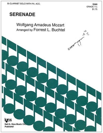 Kjos Serenade by Mozart - Bb Clarinet Solo with piano accompaniment