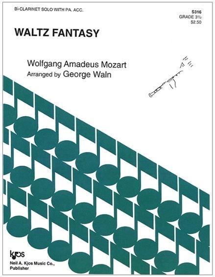 Kjos Waltz Fantasy by Mozart- Bb Clarinet Solo with Piano Acc