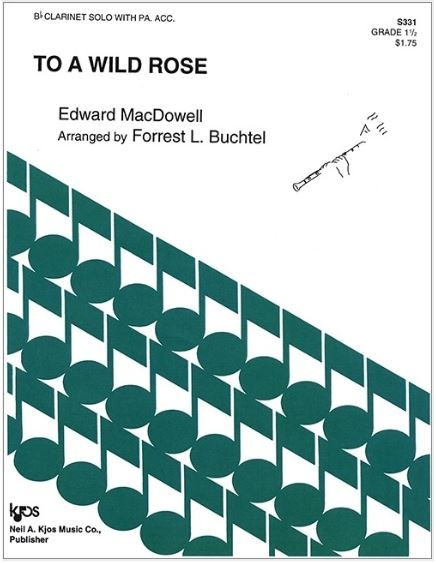 Kjos To A Wild Rose by MacDowell - Bb Clarinet Solo with Piano Accompaniment