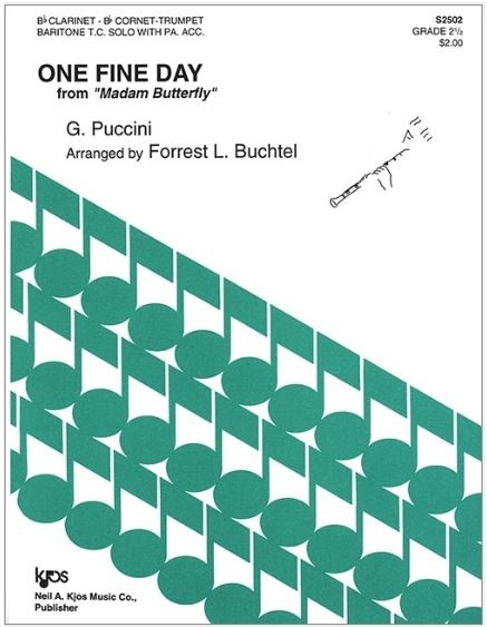 Kjos One Fine Day by Puccini - Bb Clarinet Solo with Piano Accompaniment