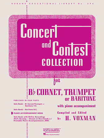 Hal Leonard Concert and Contest Collection for Bb Cornet, Trumpet, or Baritone