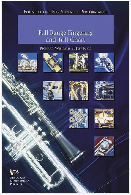 Kjos Foundations For Superior Performance Full Range Fingering and Trill Chart-Oboe