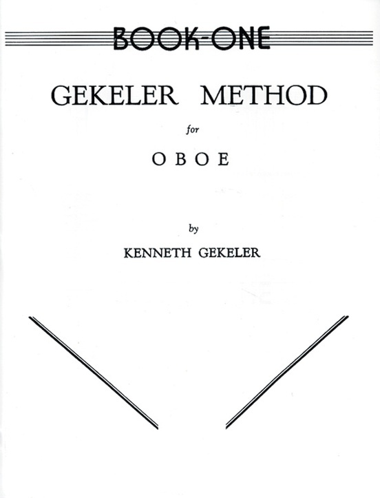 Alfred Gekeler Method for Oboe Book 1