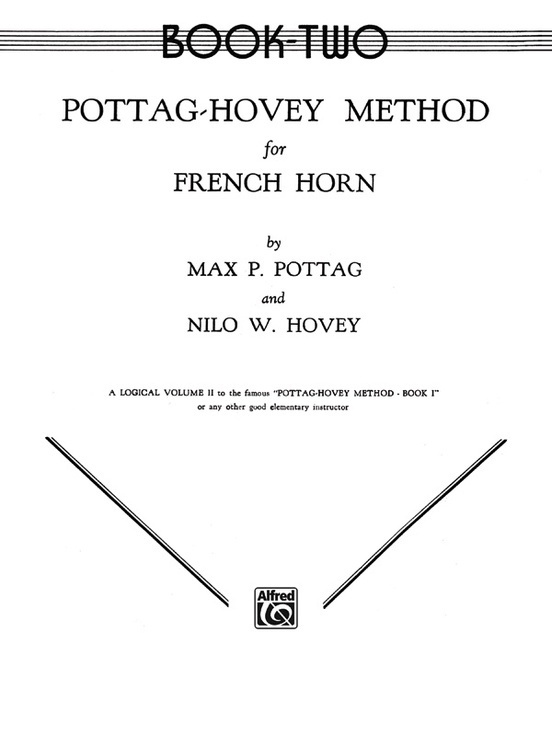 Alfred Pottag-Hovey Method for French Horn