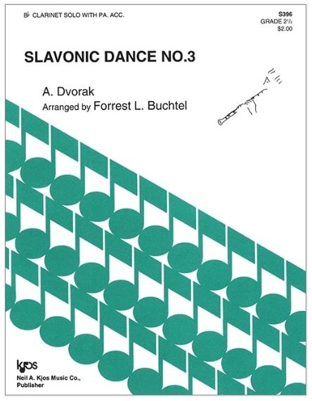 Kjos Slavonic dance No. 3 - Bb Clarinet Solo with piano accompaniment