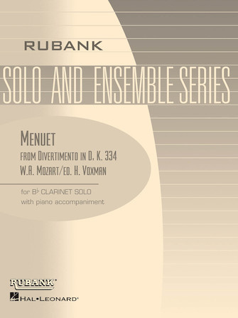 Hal Leonard Menuet for solo Bb Clarinet
