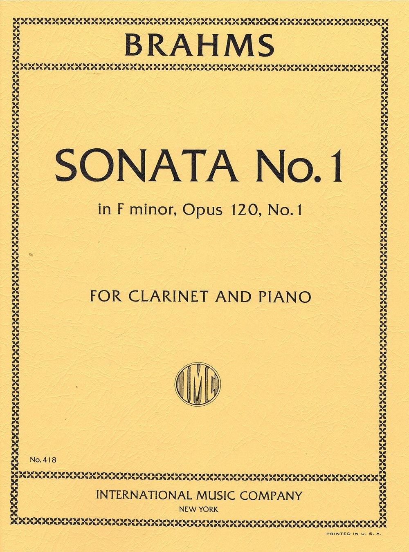 International Music Company Brahms Sonata No. 1 in F minor Opus 120 No. 1 for Clarinet