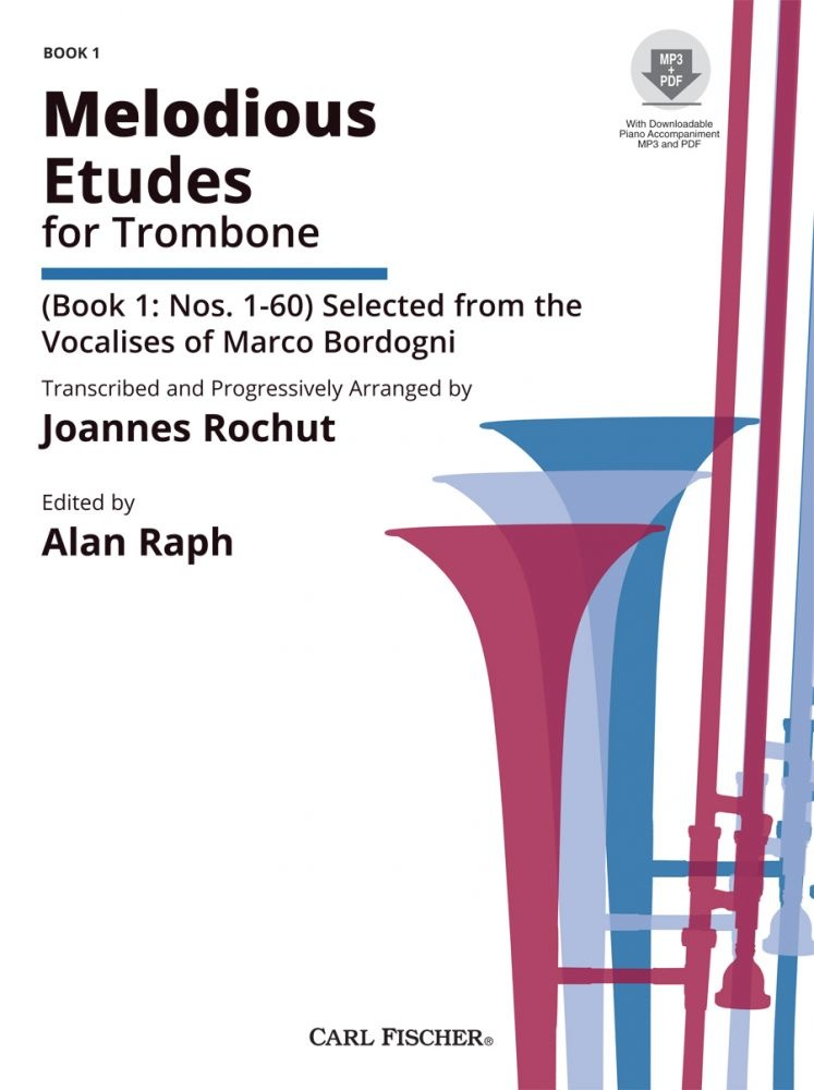 Carl Fischer Melodious Etudes for Trombone Book 1
