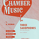 Hal Leonard Chamber Music for Three Saxophones