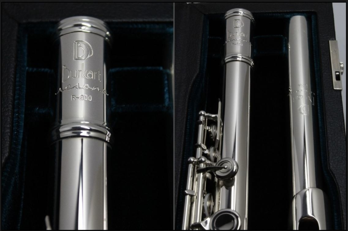 Resona by Burkart Burkart Resona 300 Flute with Sterling Silver riser and 9k Gold lip plate