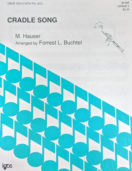 Kjos Cradle Song for Oboe with Piano Accompaniment