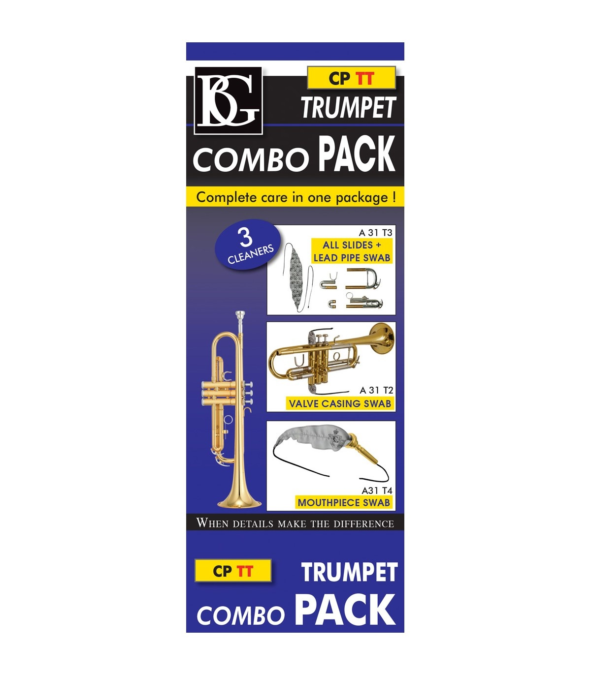 BG France BG A31T4 Brass Mouthpiece Swab for Trumpet, Flugelhorn, Cornet