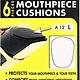 BG France BG Mouthpiece Cushions 0.9mm Thick (Clear)