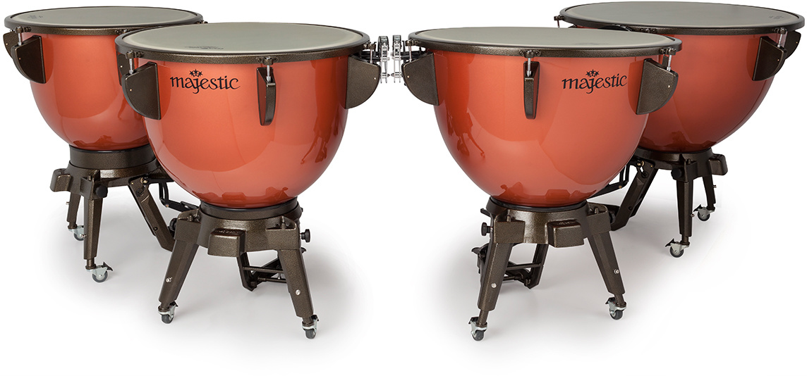 Majestic Majestic Harmonic Fiberglass Kettle Timpani Set of 4