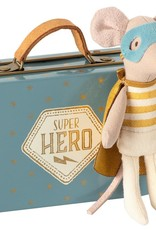 maileg Superhero Mouse, Little Brother in Suitcase