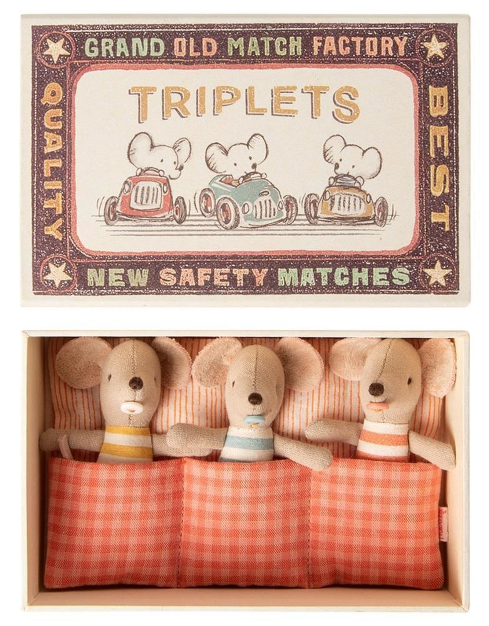 maileg Baby mice, triplets in a matchbox