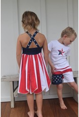 Cotton kids Red White and Blue Dress