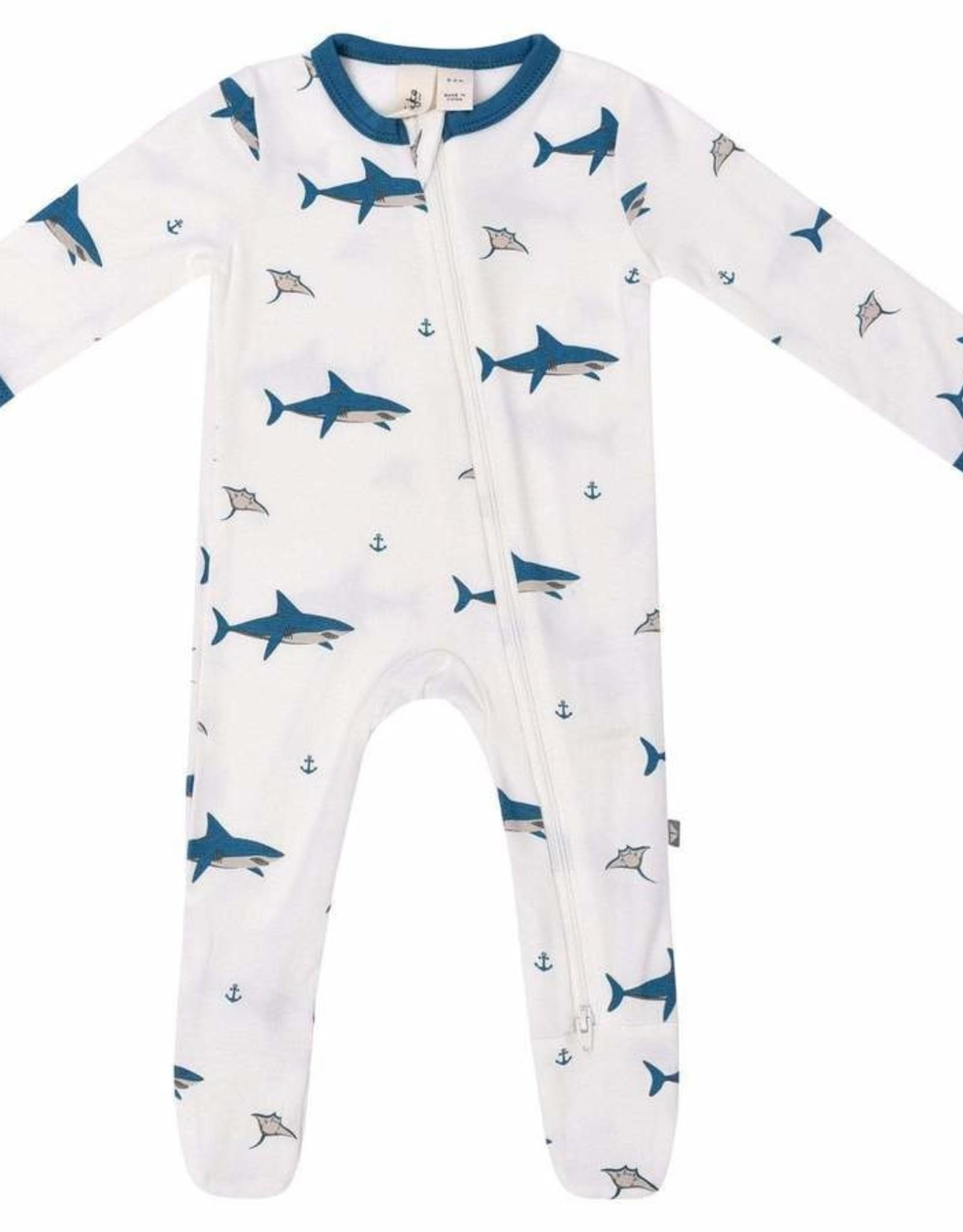 Kyte Baby Printed Bamboo Sleepsacks 0-6M, Ocean