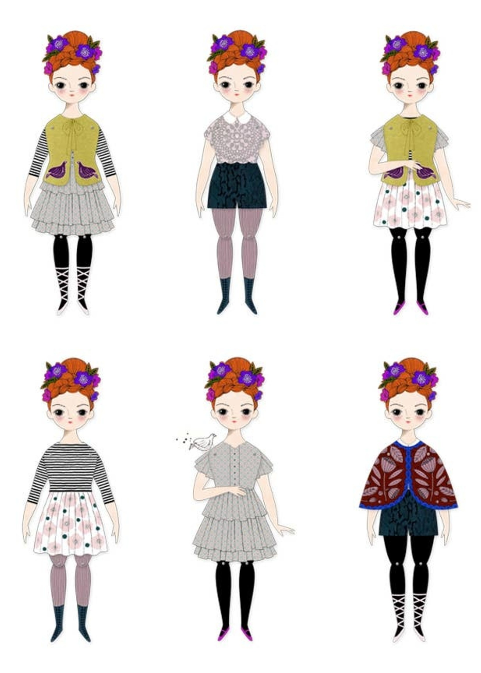 of unusual kind Florence Paper Doll Kit