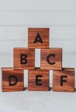 gladfolk Walnut Alphabet Blocks